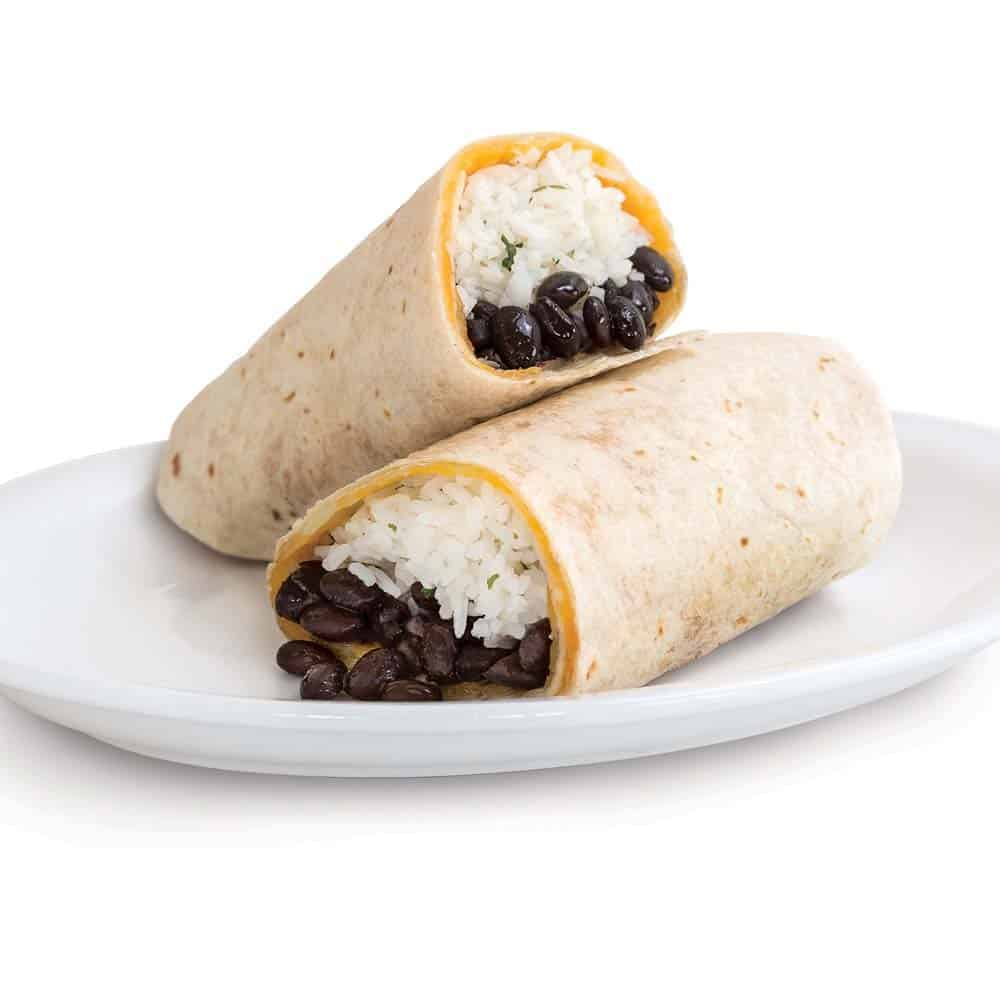 Black Bean, Rice & Cheese Burrito